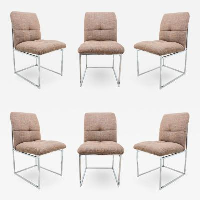 Milo Baughman Set of 6 Milo Baughman for Thayer Coggin Dining Chairs