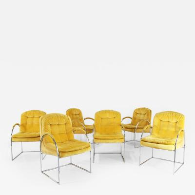 Milo Baughman Set of 6 chairs by Milo Baughman from 1970 American design