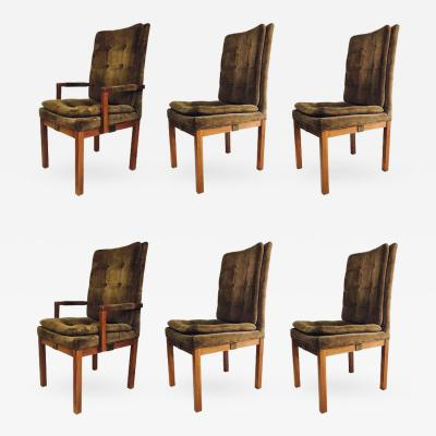 Milo Baughman Set of Six Dining Chairs by Milo Baughman for Dillingham