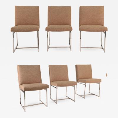 Milo Baughman Set of Six Mid Century Modern style Dining Chairs by Milo Baughman