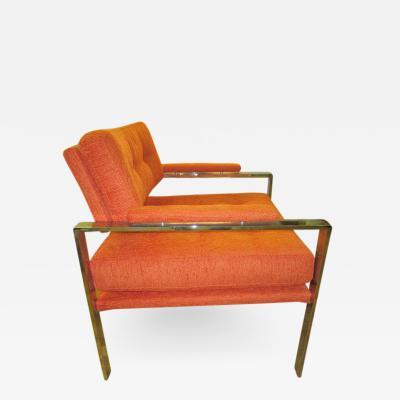 Milo Baughman Unusual Milo Baughman Orange Chrome Lounge Chair Mid Century Modern