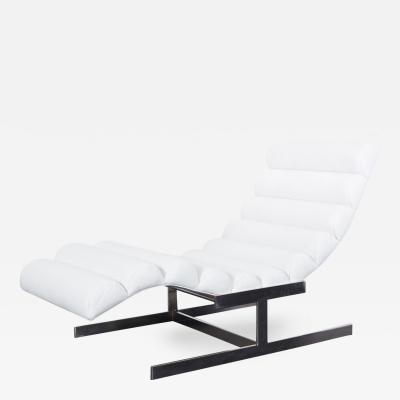 Milo Baughman Vintage Leather Chaise Lounge by Milo Baughman