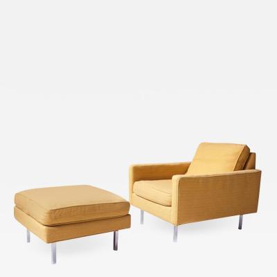 Milo Baughman Vintage Milo Baughman for Thayer Coggin Club Chair in Chrome and Wool 1960s