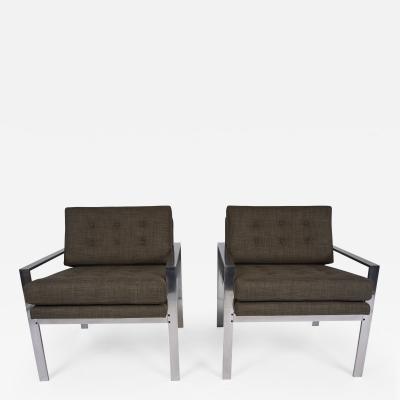Milo Baughman Vintage Pair of Mid Century Modern Style Milo Baughman Lounge Chairs
