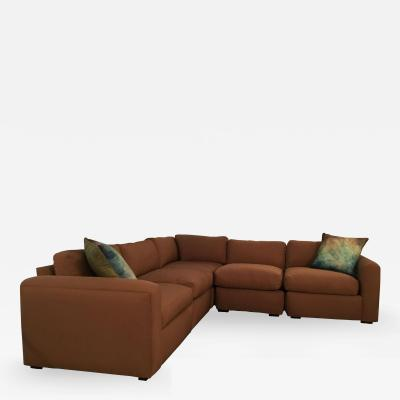Milo Baughman Vintage Reupholstered Milo Baughman Five Piece Sectional Sofa by Thayer Coggin