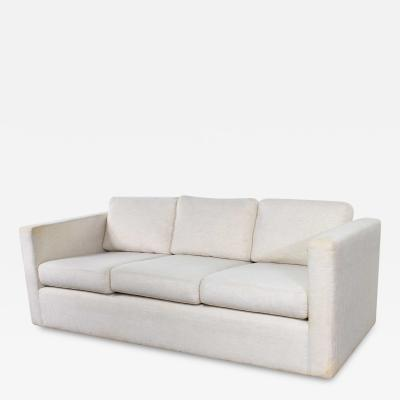 Milo Baughman White modern tuxedo style sofa by milo baughman for thayer coggin