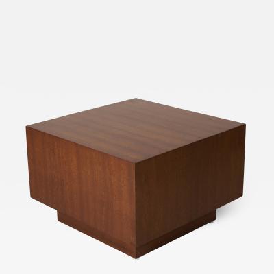 Milo Baughman Wooden Side Table