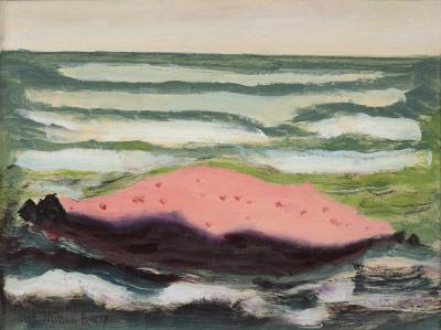 Milton Clark Avery Pink Island White Waves