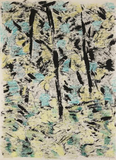 Milton Clark Avery Sunlit Forest 1956