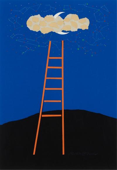 Milton Glaser Juilliard School of Music Ladder poster