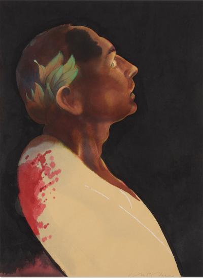Milton Glaser Julius Caesar original art for Penguin book cover