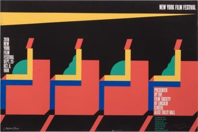 Milton Glaser Signed Milton Glaser New York Film Festival Poster