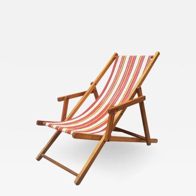 Mini wood deckchair 1950s