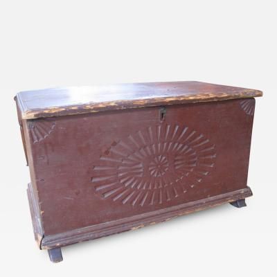Miniature Carved Blanket Chest