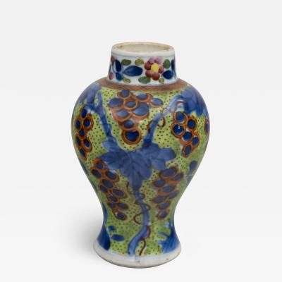 Miniature Chinese Qianlong Period Clobbered Vase Circa 1770