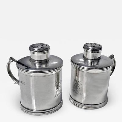 Miniature Silver Tankard Peppers Casters London 1885