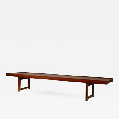 Minimalist Rosewood Bench Korbo by Torbj rn Afdal for Mellemstrands Bruksbo