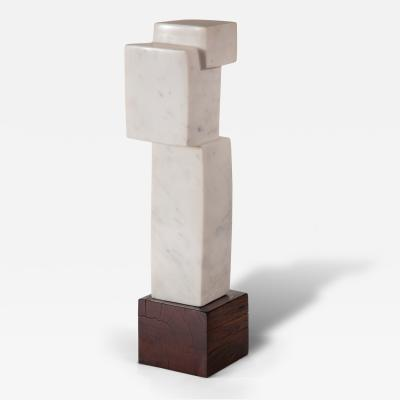 Minoru Niizuma An American White Marble Abstract Sculpture