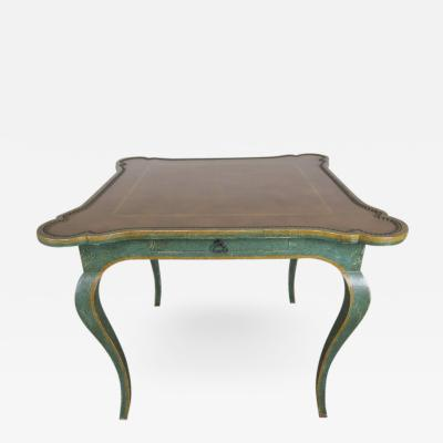 Minton Spidell Game Table with Embossed Leather Top