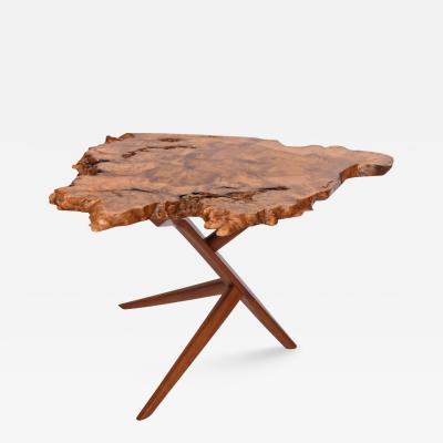 Mira Nakashima Conoid Side Table design by George Nakashima