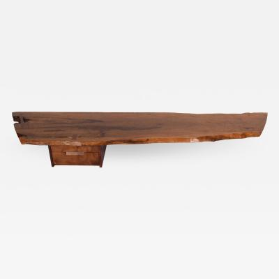 Mira Nakashima Hanging wall shelf design by George Nakashima Persian walnut