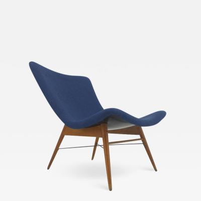 Miroslav Navratil Midcentury Lounge Chair Designed by Miroslav Navratil 1960s