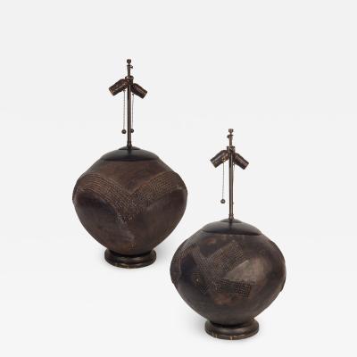 Mismatched Metal Lamps