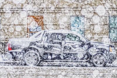 Mitchell Funk Black Car Snow