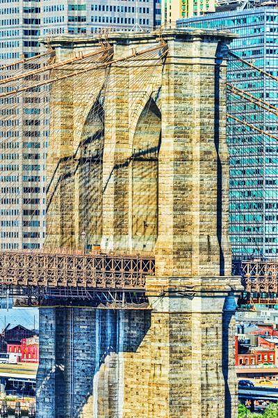 Mitchell Funk Brooklyn Bridge in Blue and Tan