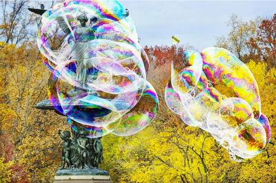 Mitchell Funk Bubbles Central Park