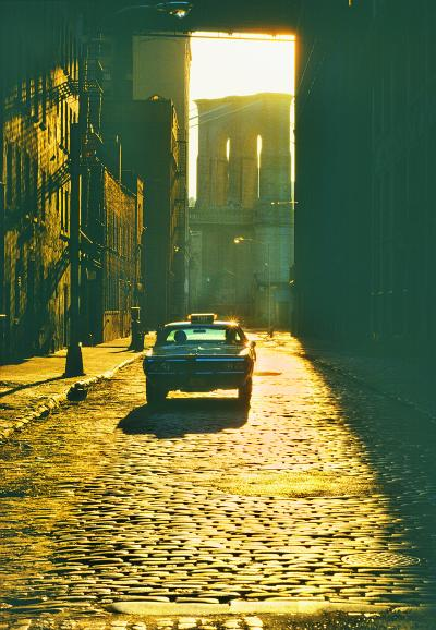 Mitchell Funk Dumbo Gold Brooklyn Bridge Cobblestone Street