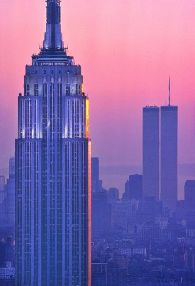 Mitchell Funk Empire State Building Magenta Mahattan