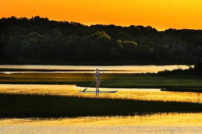 Mitchell Funk Girl in East Hampton Pond