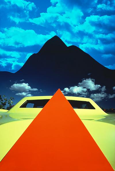 Mitchell Funk Orange Pyramid Yellow Car Black Pyramid Mountain