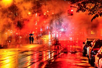 Mitchell Funk Red Street New York