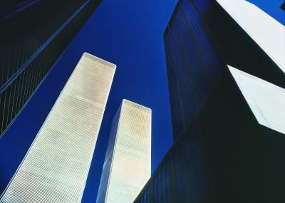 Mitchell Funk Twin Towers World Trade Center Abstract