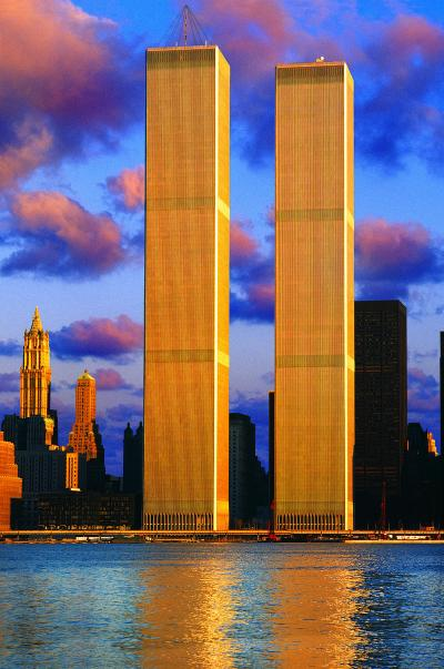 Mitchell Funk Twin Towers in Angelic Light