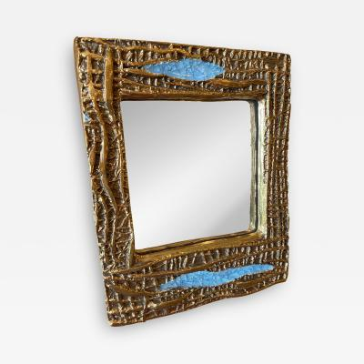 Mithe Espelt Ceramic mirror France 1960s