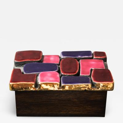 Mithe Espelt Mith ESPELT 1960s Jewellery Chest with Gilded Ceramic Lid not Lembo