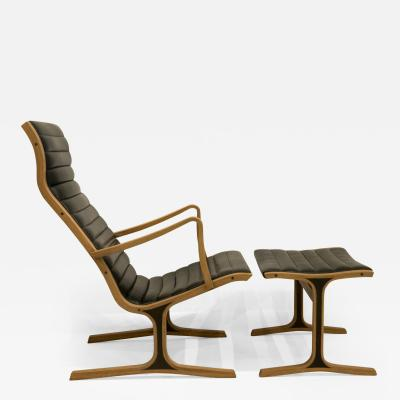 Mitsumasa Sugasawa Heron Lounge Chair and Ottoman for Tendo Mokko