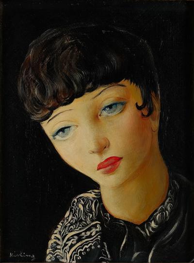 Mo se Kisling Girl With Blue Eyes
