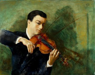 Mo se Kisling Portrait du Violoniste Milstein