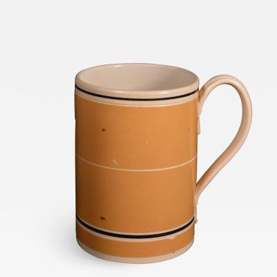 Mocha Pottery Mug with Ochre Slip Ground