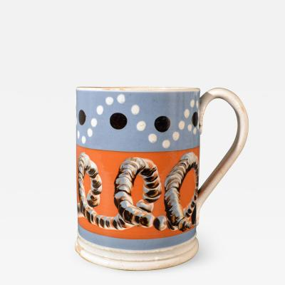 Mocha Tankard with Earthworm and Dot Decoration