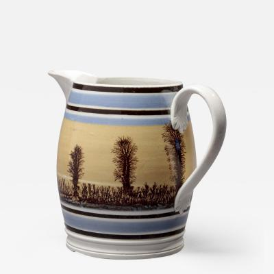 Mochaware Barrel Shaped Jug