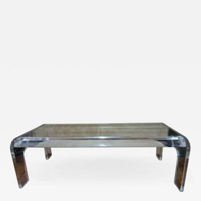Modern American Lucite Coffee Table