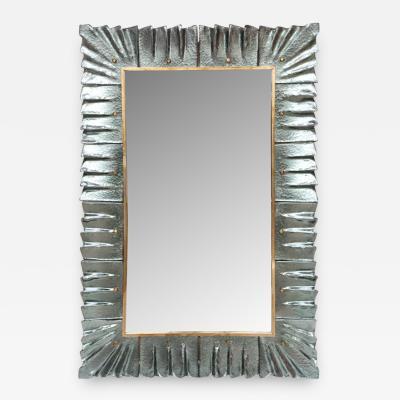 Modern Aqua Green Murano Glass Mirror