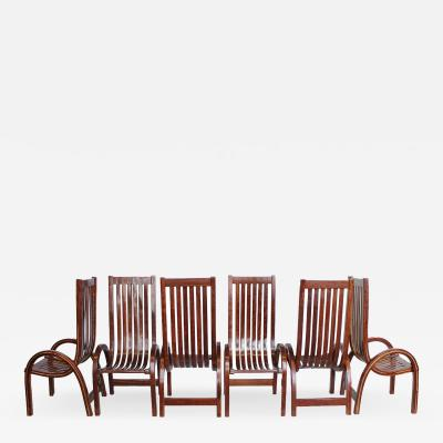 Modern Bentwood Tall Back Dining Chairs Set of 6