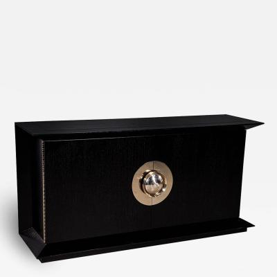 Modern Black Flared Sideboard Buffet