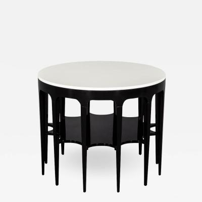 Modern Black and White Custom Center Table